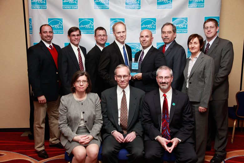 Merck group photo with award