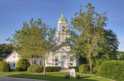 First Parish Needham exterior view