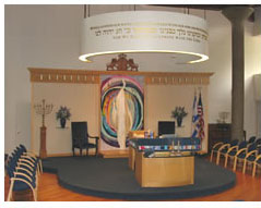 View of synagogue's eternal light