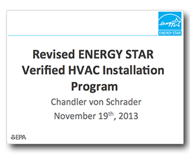 revised energy star verified hvac install program presentation
