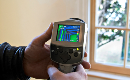 Photo of an infrared camera in use