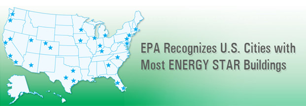 EPA Recignizes U.S. Cities with Most ENERGY STAR Buildings banner