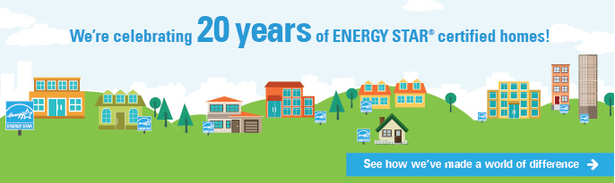 We're celebrating 20 years of ENERGY STAR certified homes.