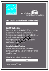 Quality Assurance Provider (QAP)-issued label