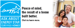 Peace of Mind, the result of a home built better banner.