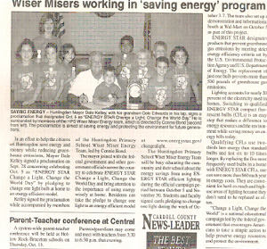 Connie Bond and the Wiser Miser Energy Team