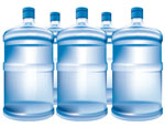 Illustration of water bottles