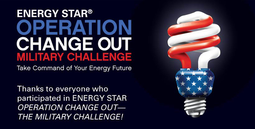 Banner for Operation Changeout, The Military Challange