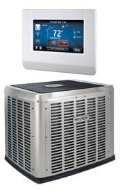 Luxaire Acclimate™ Series with Touch Screen Communicating Control