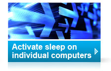 How to activate sleep setting on individual computers