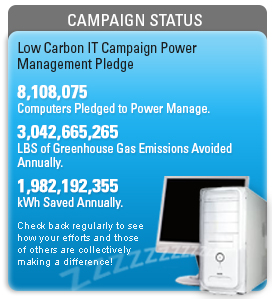 Low carbon IT campaign status