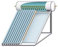 Solar Evacuated Tube Collector Water Heaters