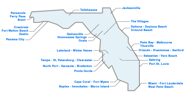 Williston florida map