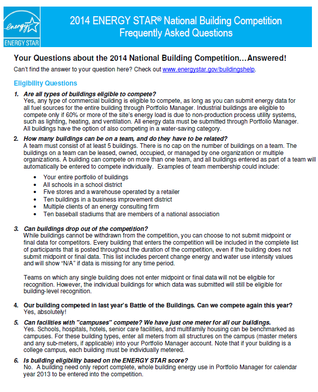 2014 National Building Competition FAQs