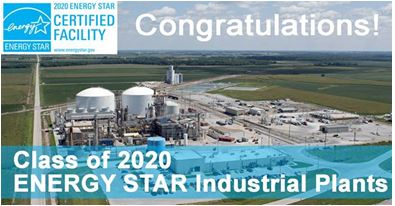 Congratulations Class of 2020 ENERGY STAR Industrial Plants
