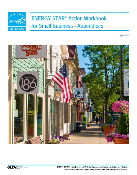 First page of the ENERGY STAR Action Workbook Appendices.