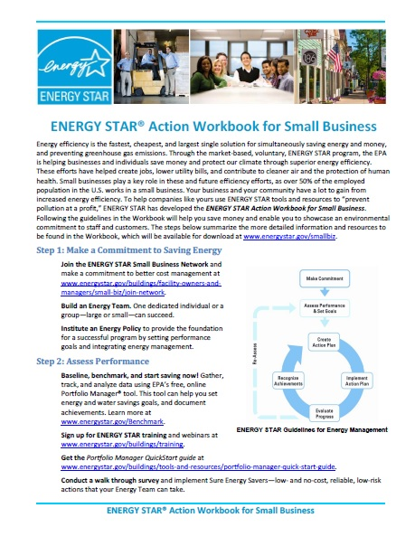 First page of the ENERGY STAR Action Workbook Summary.
