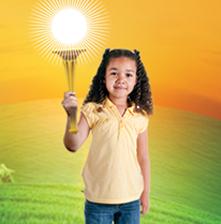 Little girl holding a torch