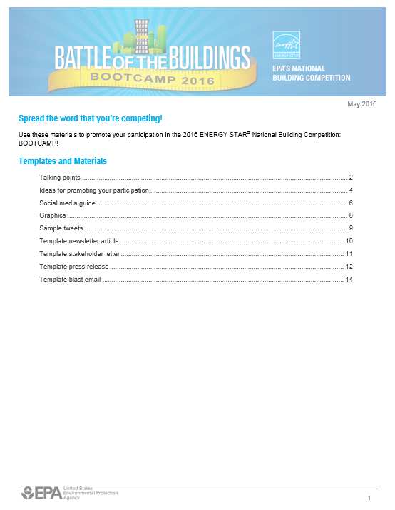 Communication Packet Table of Contents