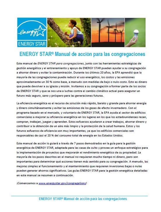 ENERGY STAR Cuaderno de resumen para las congregaciones