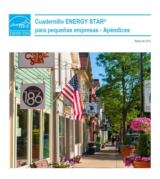 La primera página del Cuadernillo de ENERGY STAR para la pequeña empresa - Apéndices.