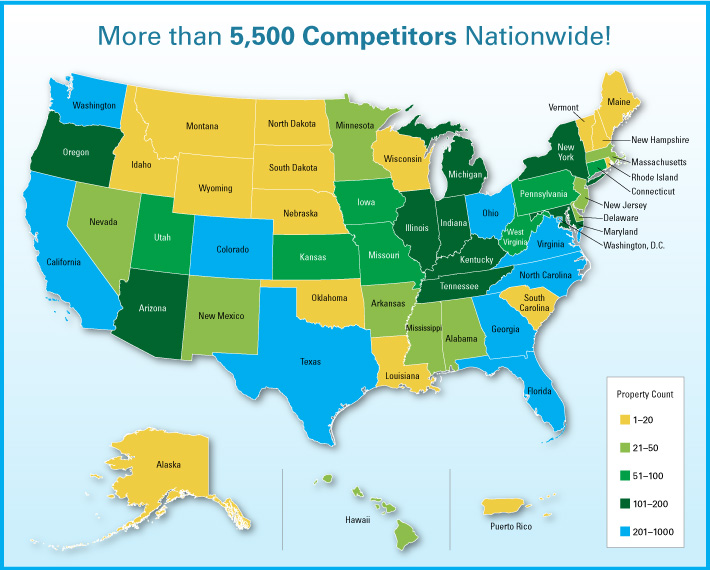 More than 5,500 Competitors Nationwide!