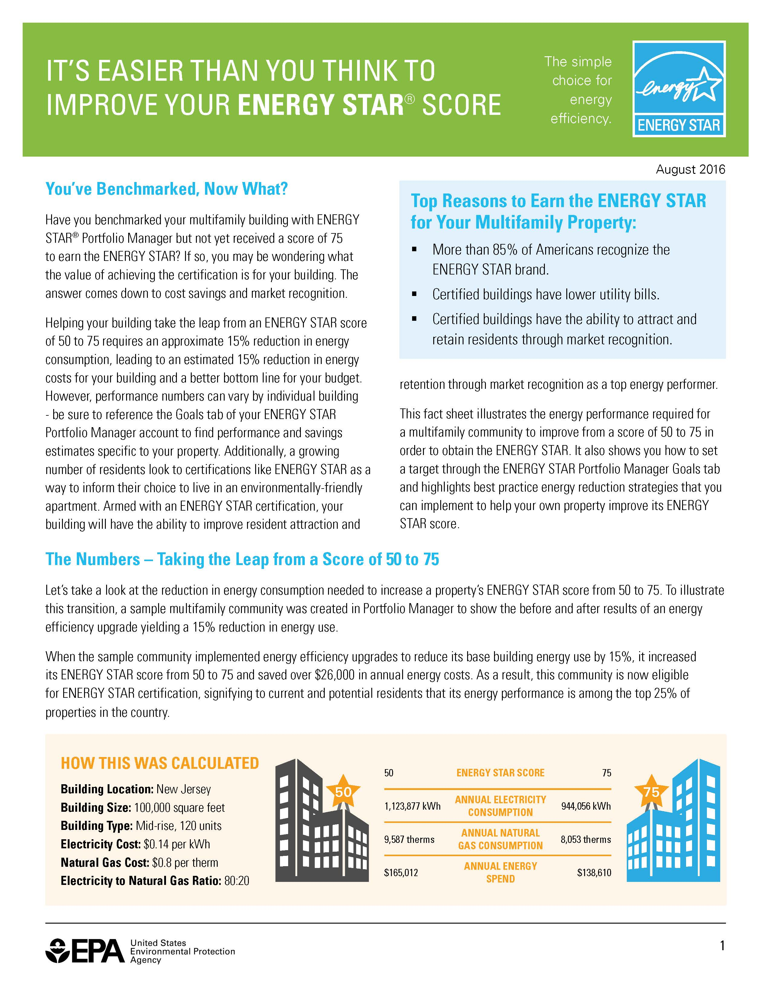 ENERGY STAR Fact Sheet- Moving from 50-75