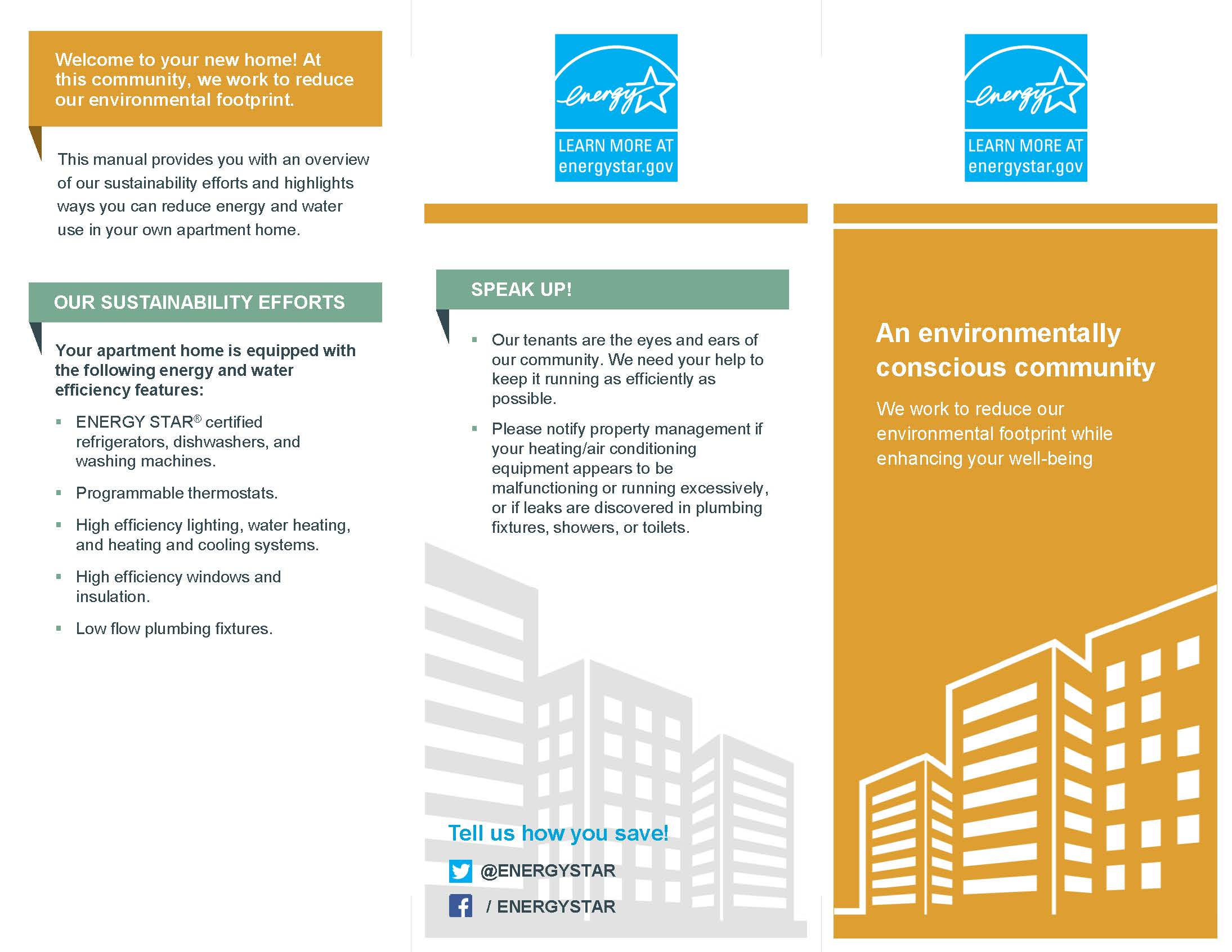 Sample environmental brochure for noncertified apartment property