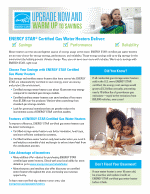 ENERGY STAR Gas Water Heater Campaign Factsheet