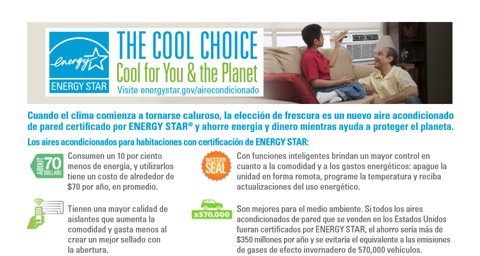 Cool Choice Room AC Factsheet – Spanish