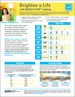 screenshot of Brighten a Life: LED Lighting Fact Sheet