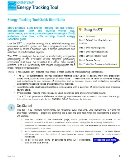 Image of first page of Quick Start Guide