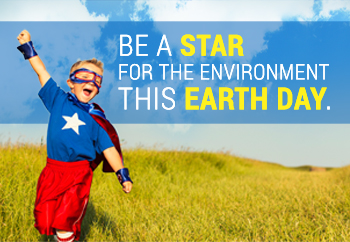 "Be a ""STAR"" for the environment the Earth Day"