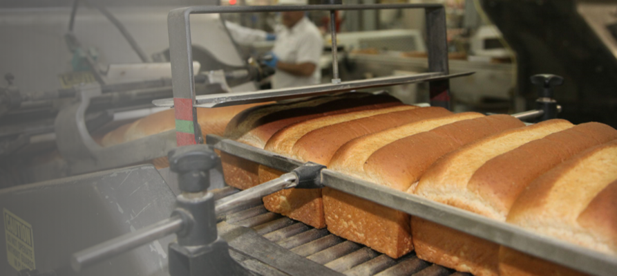 Bread on assembly line
