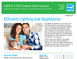 Certified New Homes - Efficient Lighting and Appliances Fact Sheet