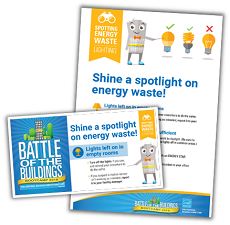 "Download the ""Spotting Energy Waste: Lighting"" activity kit here."