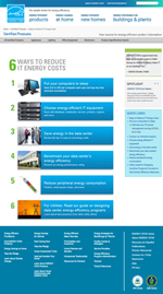 screenshot of the Low Carbon IT Campaign Webpage