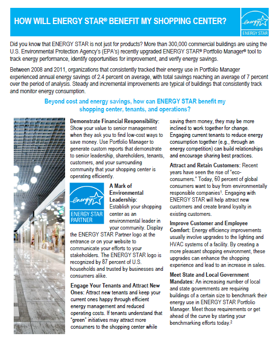 How will ENERGY STAR benefit my shopping center?