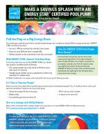 PoolPump Campaign Factsheet