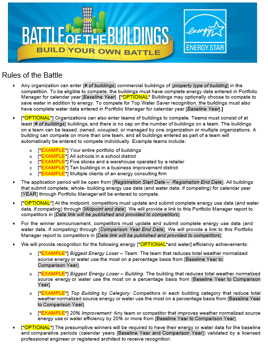 Rules of the Battle