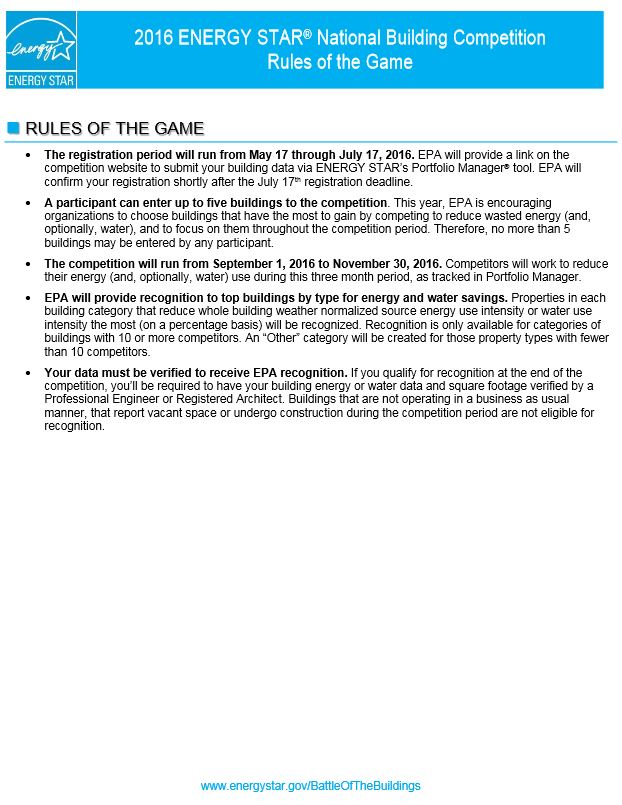 2016 rules of the game