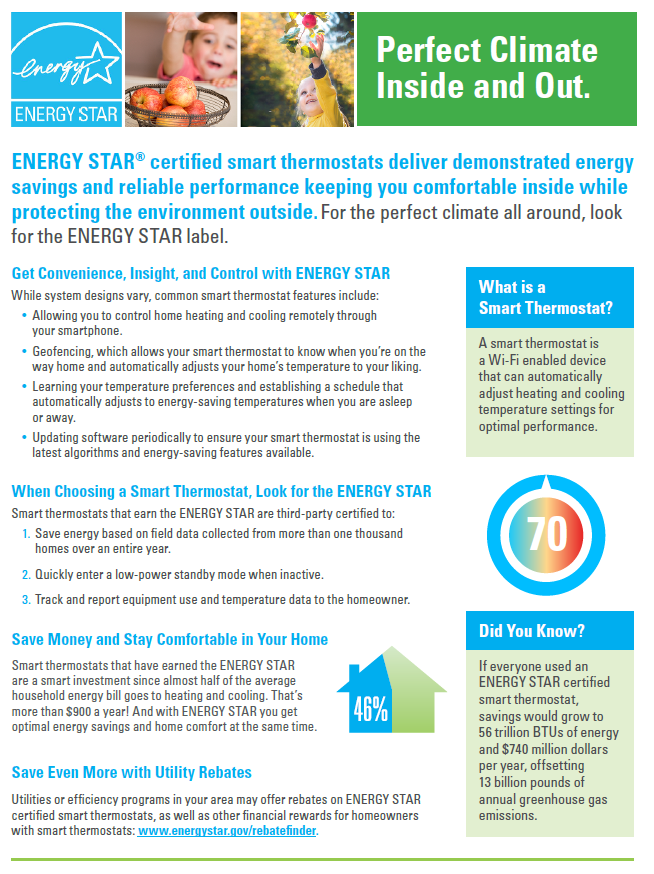 Smart Thermostat Factsheet