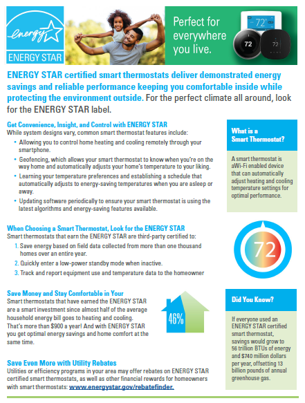 Smart Thermostat Factsheet - Spring thumbnail