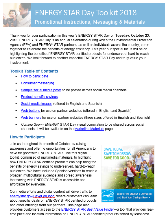 ENERGY STAR Day Toolkit