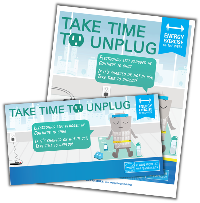 Unplug unused electronics activity kit
