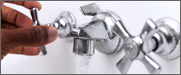 A photograph of a faucet set