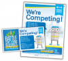 "Download the ""We're Competing"" table tents here."
