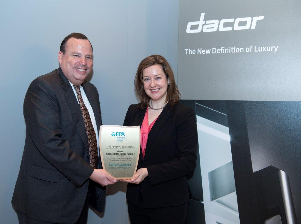 EPA presents the ENERGY STAR Emerging Technology Award for Innovative Refrigerant Systems to Dacor