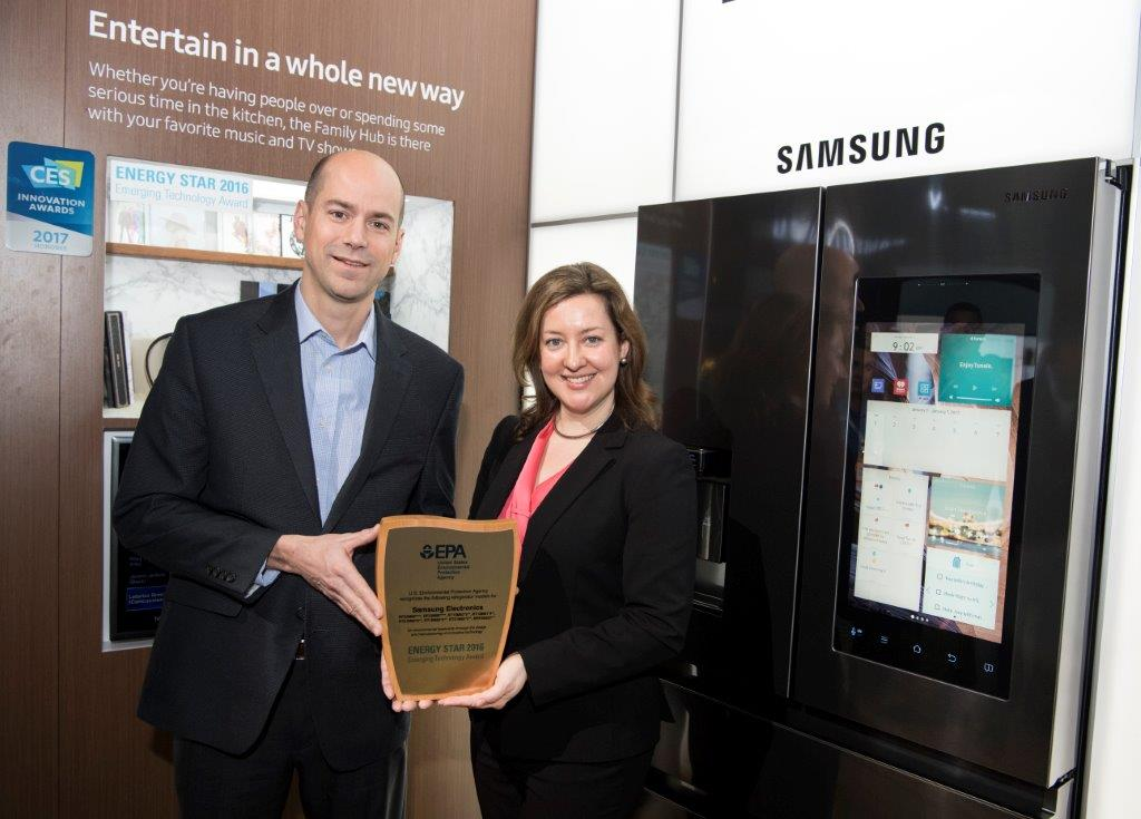 EPA presents the ENERGY STAR Emerging Technology Award for Innovative Refrigerant Systems to Samsung