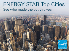 "Skyline of New York City with the headline, ""ENERGY STAR Top Cities"""